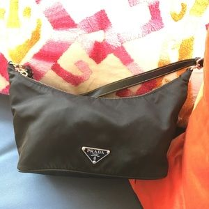 Mini black nylon Prada bag